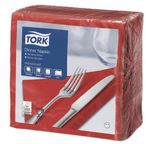 Tork Serviette Dinner, Rouge cerise