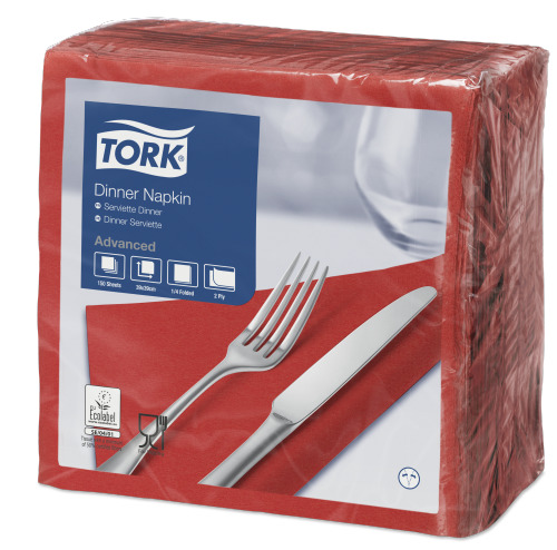 Tork Red Dinner Napkin