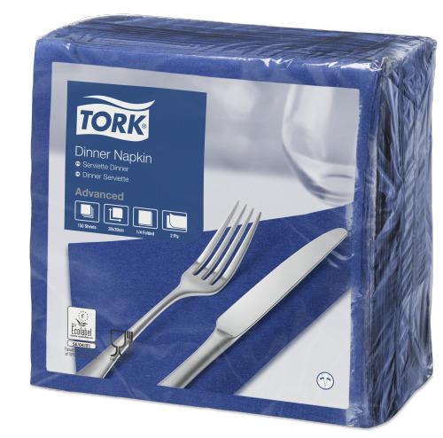 Tork Dark Blue Dinner Napkin