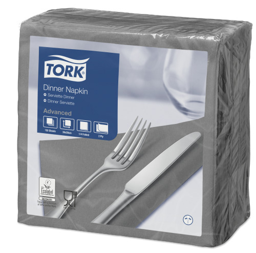 Tork Serviette Dinner, Gris