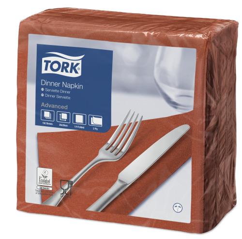 Tork Terracotta Dinner Napkin