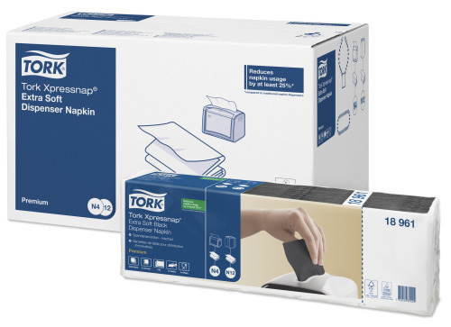 Tork Xpressnap® Extra Soft Black Dispenser Napkin