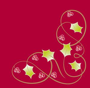 Tork Premium Textile Feel Christmas Berries Dinner punainen lautasliina