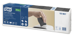 Tork Xpressnap® Extra Soft, sort dispenserserviet