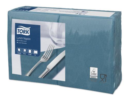 Tork Serviette Lunch, Bleu pétrole