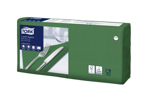 Tork Soft Dark Green Lunch Napkin