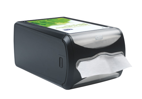 Tork®  Xpressnap Countertop Napkin Dispenser Black