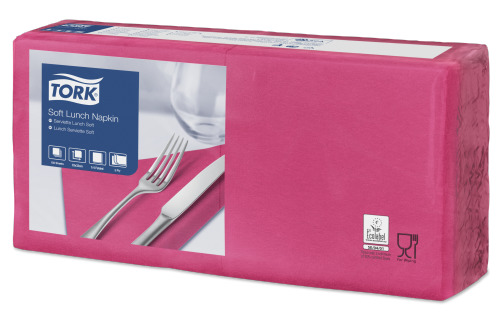 Tork Soft Bright Pink Lunch Napkin