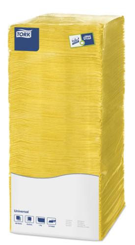 """""""Tork"""" 1 sluoksnio geltonos kokteilių servetėlės"""