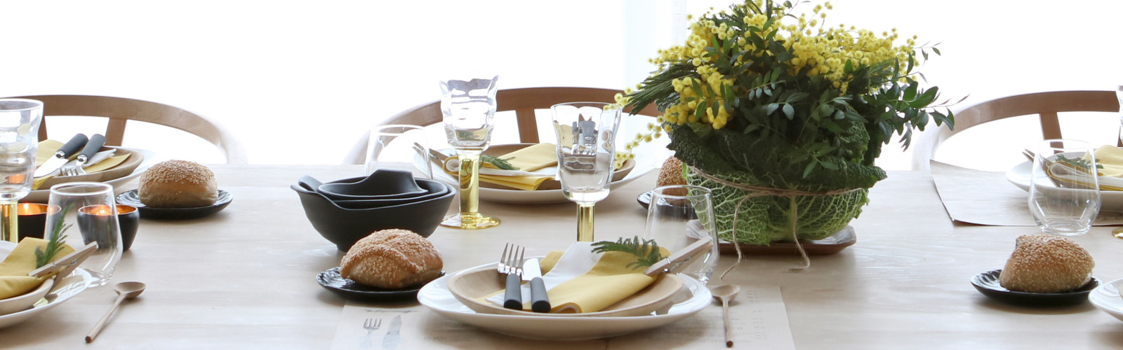 Spring Styling LinStyle Mustard Napkins