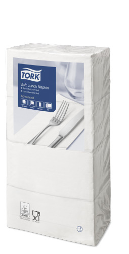 Tork Soft White Lunch Napkin 1/8 Folded