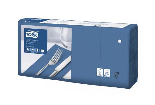Tork Soft tamnoplava salveta za ručak 1/8 preklopljena