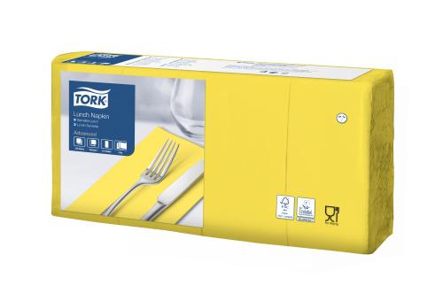 Tork Soft žuta salveta za ručak 1/8 preklopljena