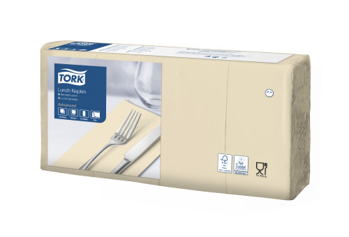 Tork Soft Sand Lunch Napkin 1/8 Folded