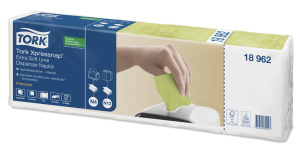 Tork Xpressnap® Extra Soft Lime Dispenser Napkin