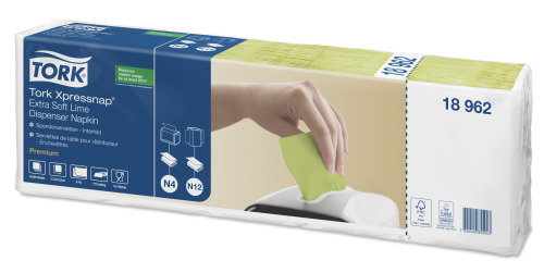 Tork Xpressnap® Extra Mjuk Lime Dispenserservett