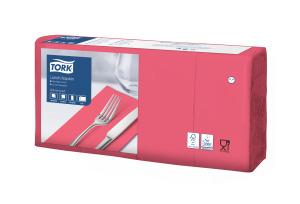 Tork Tovagliolo Lunch rosso (piegato in 8)