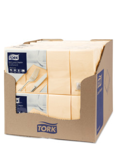 Tork Soft Sand Lunch Napkin 1/8 Folded