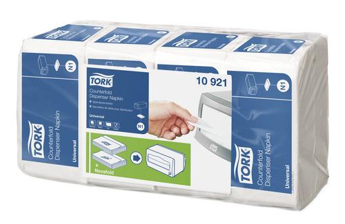 Tork®  White Counterfold Dispenser Napkin N1