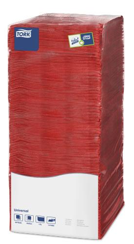 Tork салфетки 25х25 красные