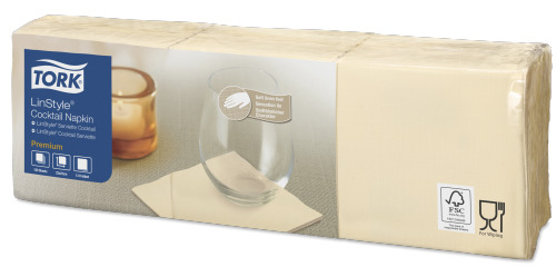 Tork LinStyle® Cocktailservett Creme